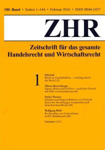 ZHR 2016, S 136