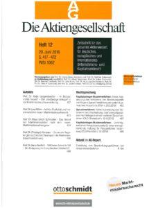 AG 2016, Heft 12 MAR-Tagung