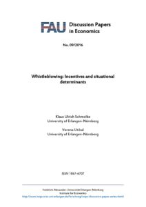 Whistleblowing Incentives and Situational Determinants
